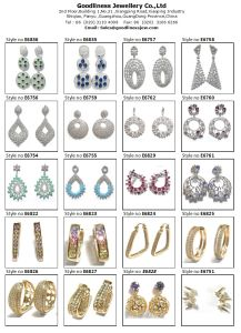 High Quality Fashion Jewelry Blue Colors Rhodium Plated Crystal Water Drop Earring Silver Jewelry (E6404) pictures & photos