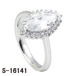 Diamond Rings Imitation Jewelry Sterling Silver White CZ Rings pictures & photos