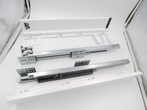 Kitchen Drawer Elegant Metal Box System with Soft Close Concealed Drawer Slides pictures & photos