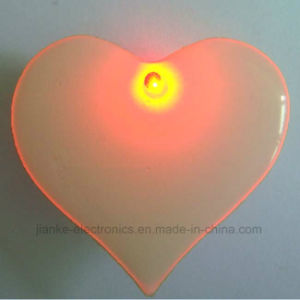Custom Heart Shape LED Blinking Pins with Logo Printed (3161) pictures & photos