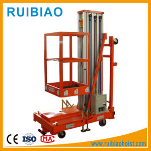 Aluminium Single Mast Aerial Working Man Platform Lift Table 100kg pictures & photos