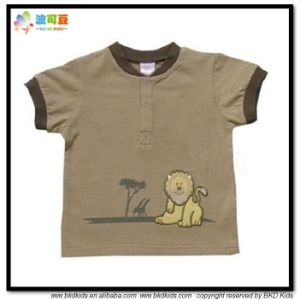 Cute Prinitng Baby Clothes Round Neck Toddler T-Shirts pictures & photos