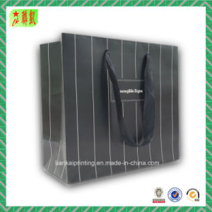 Striped Style Paper Handbags for Packaging pictures & photos