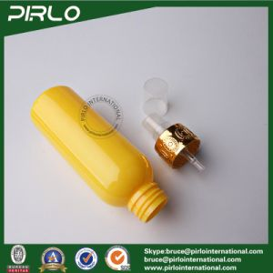 100ml Yellow and Blue Pet Plastic Spray Bottle Cosmetic Liquid Packing Plastic Bottle with Metal Cap pictures & photos