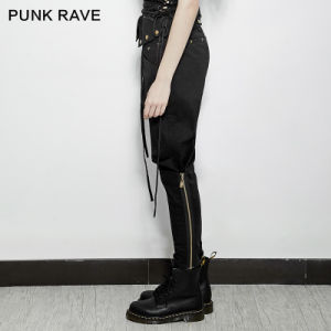 Pk-090 Punk Rave Solid Long Length Chiffon Elastic Waist Pants pictures & photos