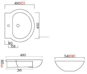2016 New Design Ce Certification Pedestal Basin Spb16001 pictures & photos