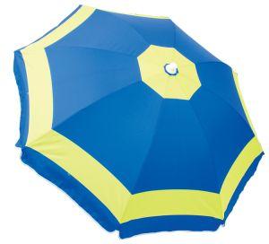 New Design Heattransfer Printing 1.8m Polyester Beach Umbrella with Sun Block