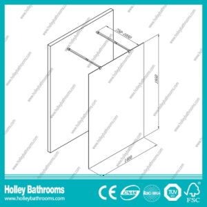 Aluminium Walk-in Shower Screen with Tempered Laminated Glass (SE928C) pictures & photos