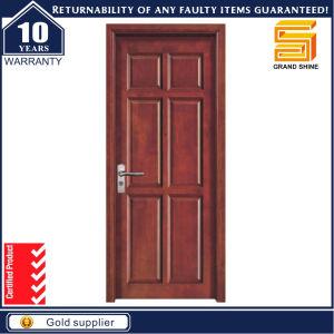 Custom Solid Wooden Interior PVC Veneered Hotel Door pictures & photos