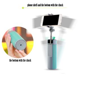 Retractable cellphone selfie stick with bluetooth speaker and mini power bank pictures & photos