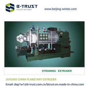 Straining Extruder with Double Die for PVC Soft Film Calendering Line pictures & photos