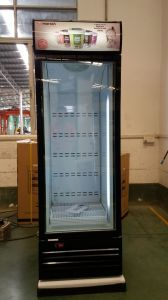 Commercial Display Refrigerator, Supermarket Single Glass Door 450L Ice-Cream  Upright  Freezer pictures & photos