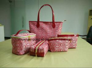 New Design 5PCS Set Combos PU Leather Designer Handbags pictures & photos