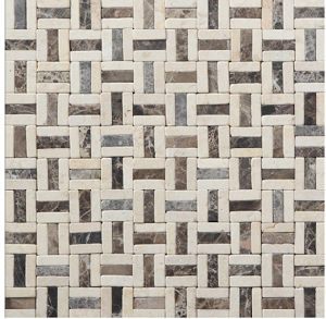 Building Material Metal Mixed Stone Marble Mosaic Tile (FYSM103) pictures & photos