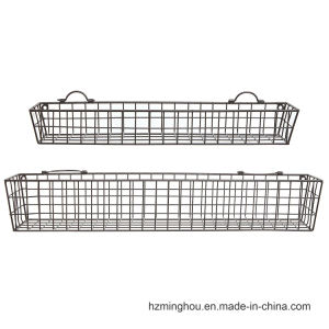 Rustuic Metal Wire Wall Mounted Display Shelf pictures & photos