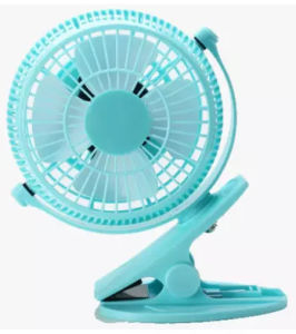 2 level wind speeding USB miniCharging fan with clamp -Blue pictures & photos