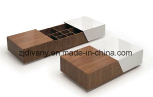 Modern Furniture Living Room Wooden Tea Table (T-92) pictures & photos