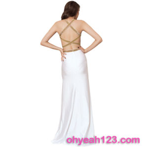 Deluxe Back Crisscross Sexy Fashion Lady Dress pictures & photos