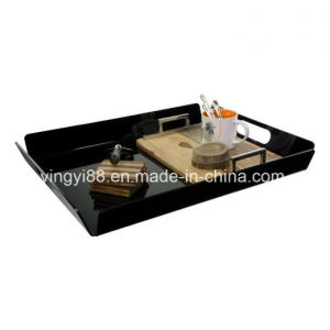 Various Color and Design Acrylic Serving Tray with Handle pictures & photos