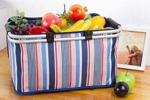 Collapsible Aluminum Alloy Picnic Basket Taking out Thermal Insulated Box pictures & photos