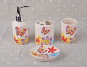 Accessories Set 5PCS Ceramic Toothbrush Soap Holder for Bath pictures & photos