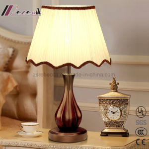 Modern Chinese Real Wood Vintage LED Table Lamp for Bedroom pictures & photos