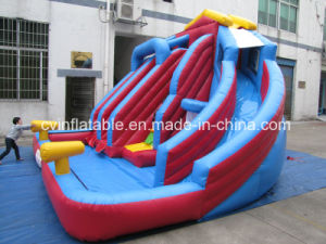 Inflatable 3 Lanes Water Slide with Pool pictures & photos