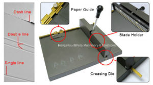 SM-460 manual ceasing perforating machine/Office Manual Paper Scoring machine pictures & photos