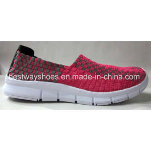 Fashion Shoes Weave Shoes Slip-on Shoes Women Boat Shoes pictures & photos