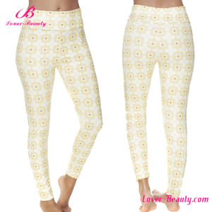Smoothing Flower Printed Sexy Women Legging pictures & photos