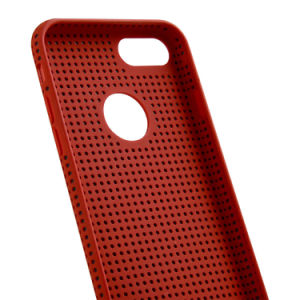 Ultra-Thin Liquid Silicone Breathable Cooling Mesh Hard Phone Cover for iPhone 7 pictures & photos