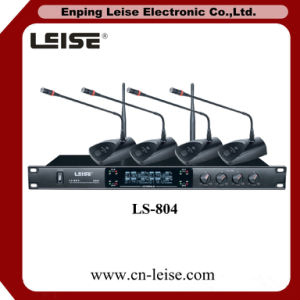 Ls-804 High Quality Professional Four Channel UHF Wireless Microphone