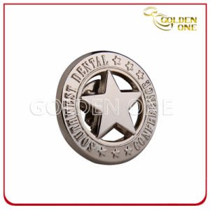 Customized Die Stamped Engraved Gold Plated Metal Badge pictures & photos