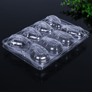 disposable clear clamshell food packaging supermarket vegetable/fruit/heat tray pictures & photos