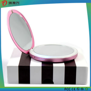 4400mAh Round Design Mirror Power Bank with LED Lighting pictures & photos