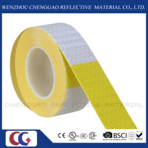 "6"" Yellow / 6"" White Reflective Safety Caution Warning Sticker Rolls (C3500-B(D)) pictures & photos"