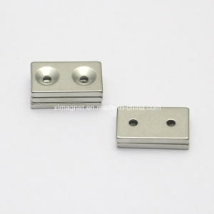 Block Magnet with Two Screw Holes L243 pictures & photos