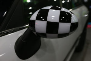 Big Chequered Style Replacement Side Mirror Cover
