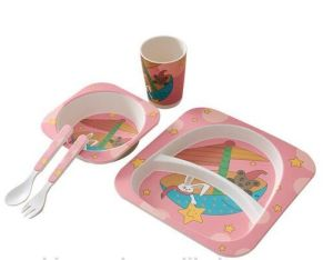 Eco-Friendly Bamboo Fiber Kids Dinnerware Sets (YK-BS1006) pictures & photos