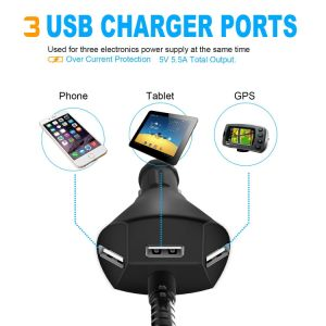 Electric Car 3 USB Charger Smart Mobile Cell Phone Holder pictures & photos