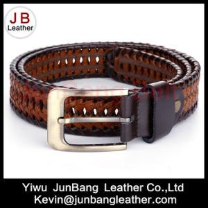 3.5cm Width Men′s German Bond Braided Leather Belt pictures & photos