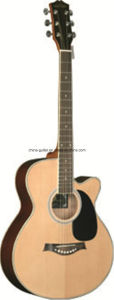 40′′ Hot Sale Sapele Cutaway Acoustic Guitar pictures & photos