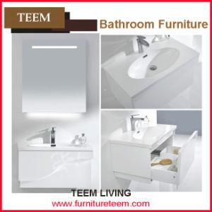 Modern Hot Sale Floor Standing Double Sinks Wooden Bathroom Cabinet pictures & photos