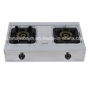 2 Burner High Type Stainless Steel 710mm Gas Cooker pictures & photos