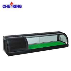 1.2m Sushi Display Coller, Refrigerated Sushi Display Showcase pictures & photos