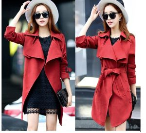 Facotry Wholesale 2015 Fashion Woolen Winter Trench Coat pictures & photos