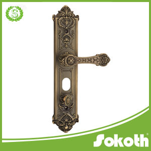 Hot Selling Brass Door Handle on The Plate Lever Handle pictures & photos