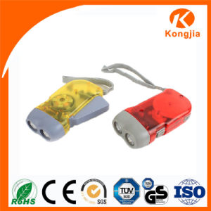 Ultra Bright Rechargeable Flashlight Hand Crank Pressing Torch LED