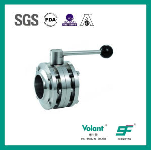 Stainless Steel Food Processing Welded Butterfly Valve pictures & photos