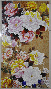 Tile Mosaic Picture Flower Pattern Mosaic Tile pictures & photos